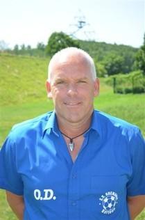 """Trainer Oliver Dirr war am Sonntag wieder """"der alte""""."""