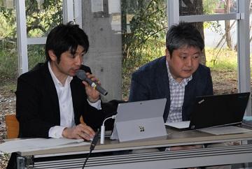 左から 渡邉先生、杉田さん