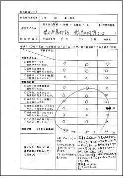 相互評価シート例(情報検索)