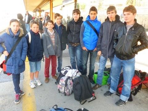 Les huit jeunes varois au départ de Toulon