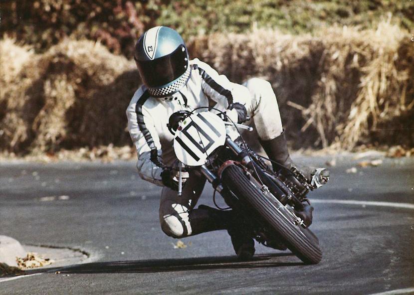 Bergrennen Idar-Oberstein 1973 in der Klasse 250 ccm/ Yamaha TD 2b