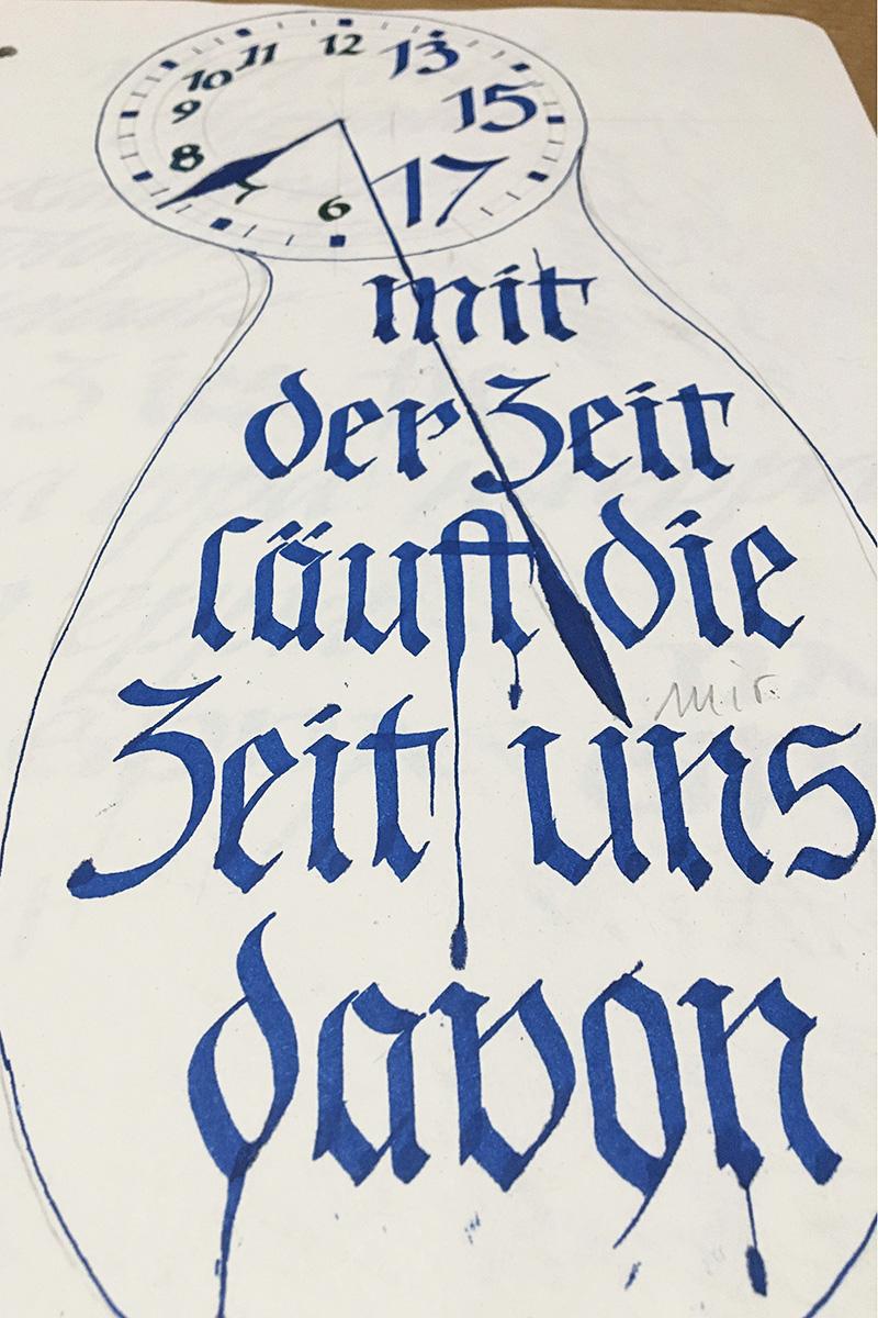 Schwabacher Fraktur - gebrochene Schriftform aus dem 15. Jahrhundert
