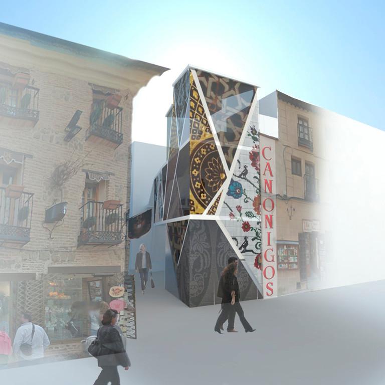 Composición de fachada_Contraste de materiales
