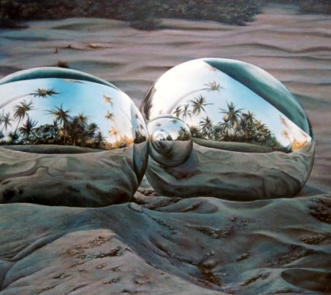 ISLAS REPETIDAS. Jorge Luna, óleo/tela, 100 x 140 cm