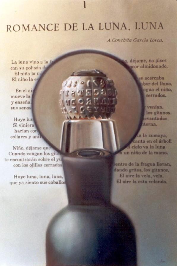 ALFABETO LUNAR. Óleo/tela 80 x 120 cm. Jorge Luna.