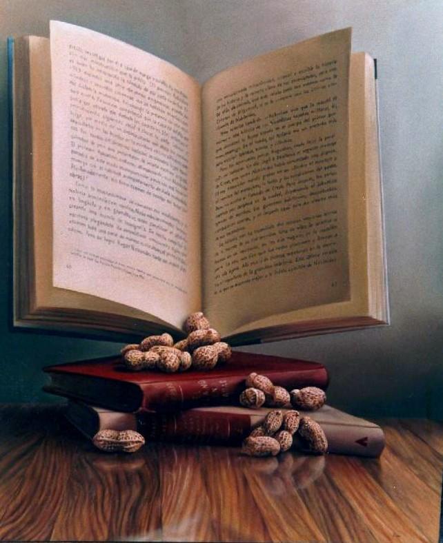 LA ENSAÑANZA. Óleo/tela 80 x 120 cm. Jorge Luna.