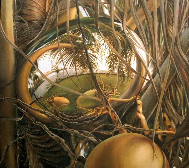 CIRCULACION. Óleo/tela, 150 x 150 cm. Jorge Luna.