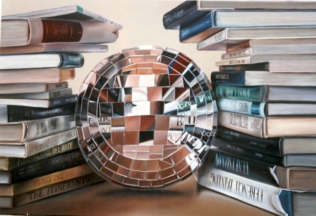 CONOCIMIENTO ESTRUCTURADO. Óleo sobre tela. 100 x 150 cm. Jorge Luna
