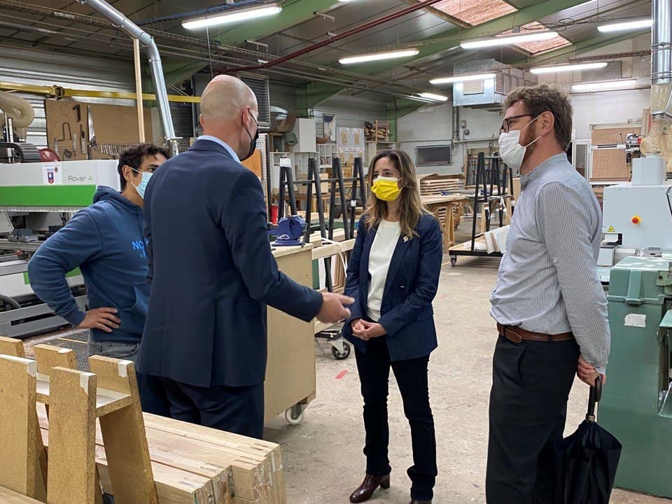 Visite de l'école de production Boisard à Vaulx-en-Velin