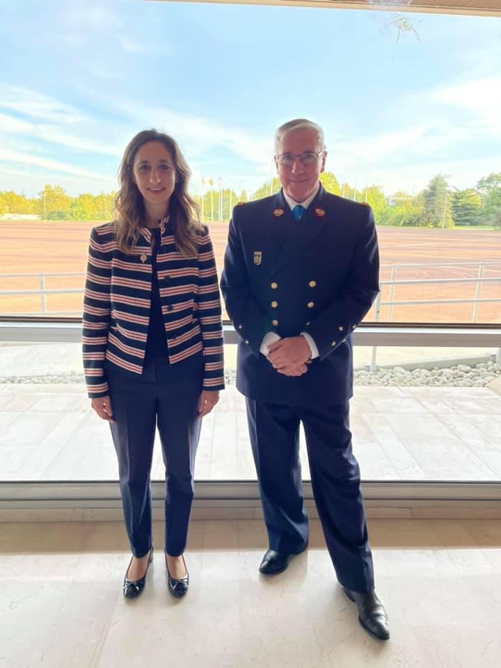 Avec le Médecin Général des Armées, Hervé FOEHRENBACH, inspecteur général du Service de santé des armées