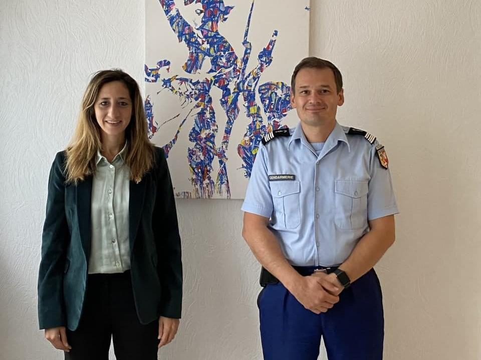 Rencontre avec le Colonel de Gendarmerie, Benoît VILLEMINOZ