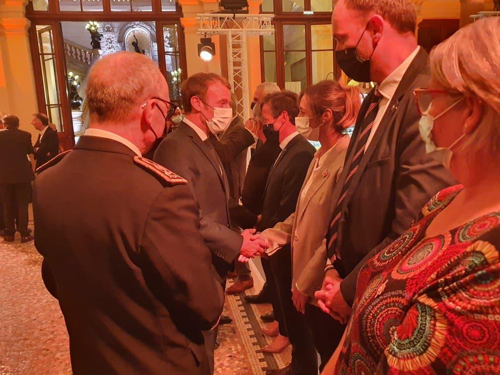 Echanges avec le président de la République