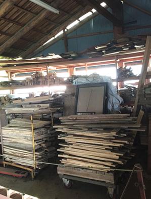 木童工房 資材倉庫 内観(2階)
