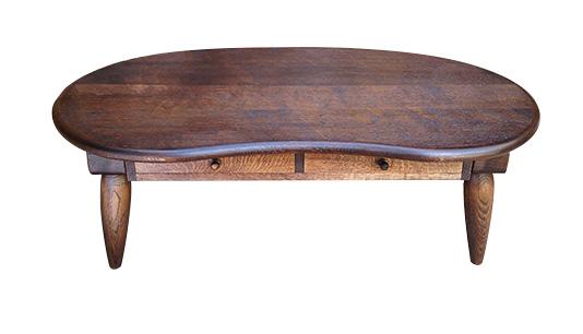 木童工房:ビーンズ型座卓