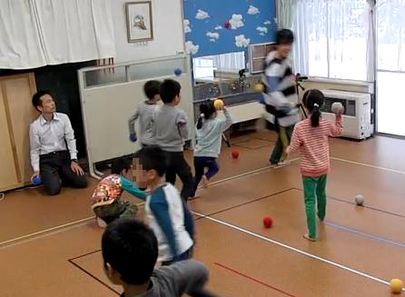 教育相談時のボール活動
