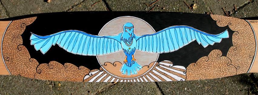 Longboard Timber Boards, Mystical Bird
