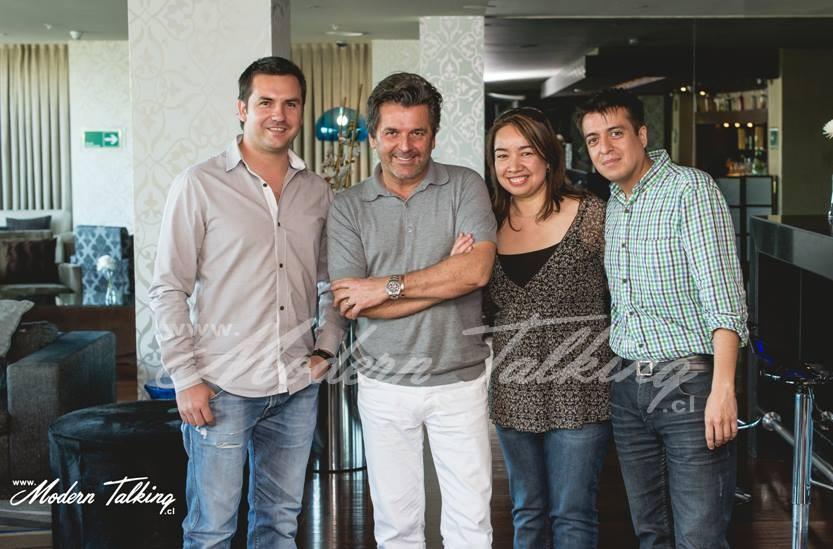 Hernan, Cecilia, Omar and Thomas in Santiago de Chile