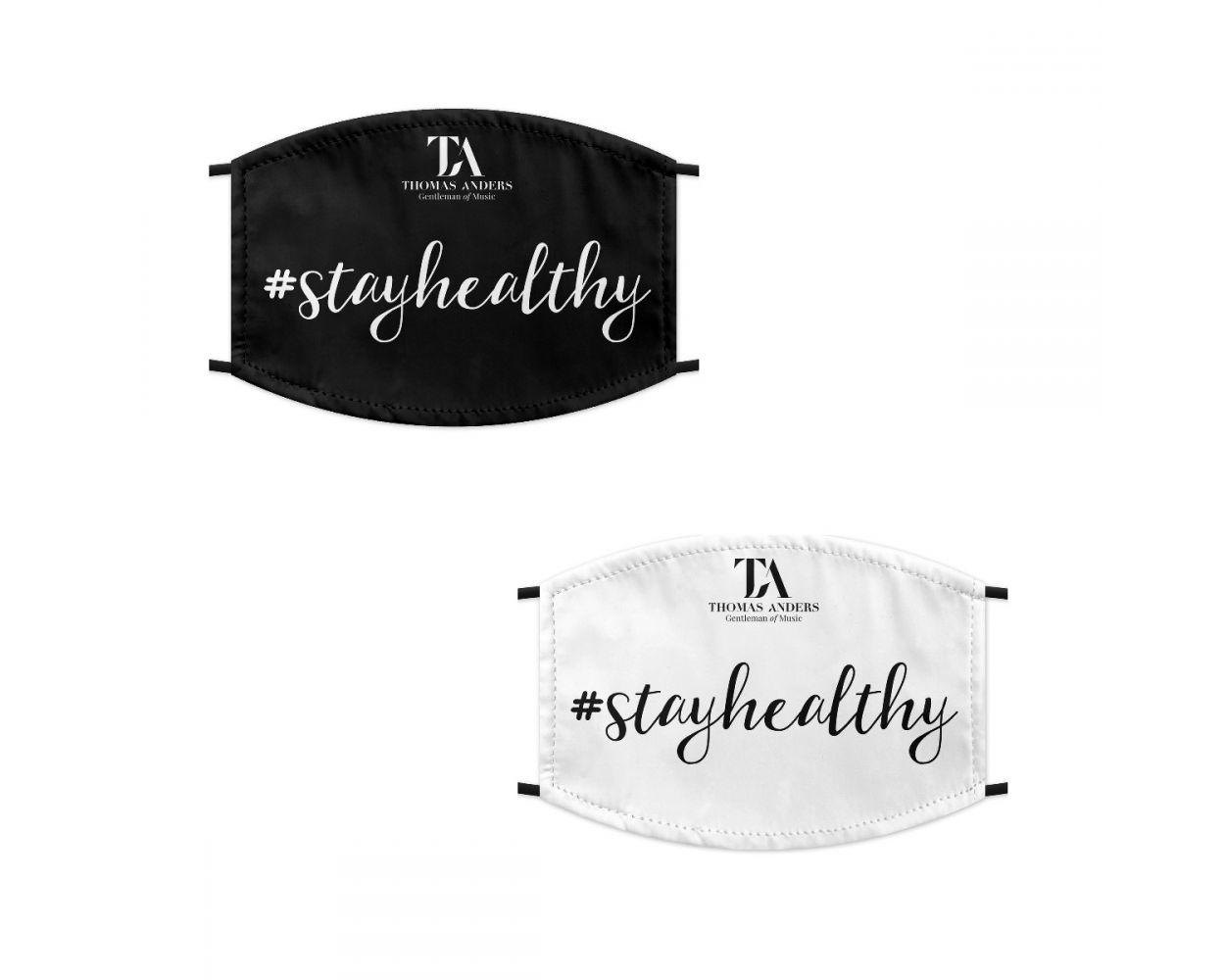 MNS mit TA-Logo und Aufschrift (schwarz oder weiß)