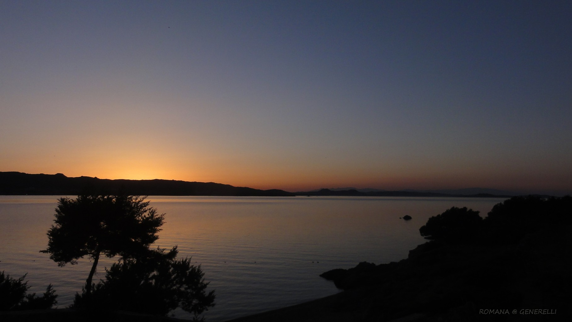 All' ora del tramonto momento romantico