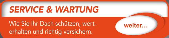 """Button verlinkt zu """"Service und Wartung"""" der Uttendorf Bedachungen GmbH."""