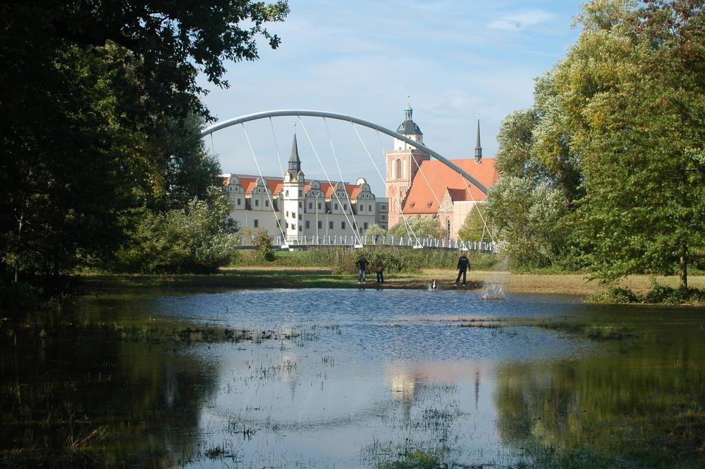 Blick zum Dessauer Schloß