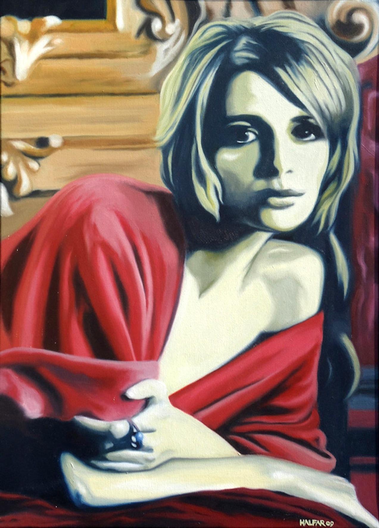 ' Mädchen vor dem Spiegel ' Öl a. LW,  50 x 70 cm, 2009