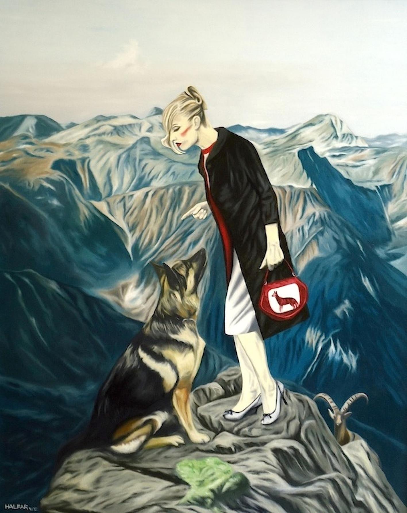 ' Gehorsam ' Trilogie 'Deutsche Tugenden' Öl a. LW, 100 x 80 cm, 2012