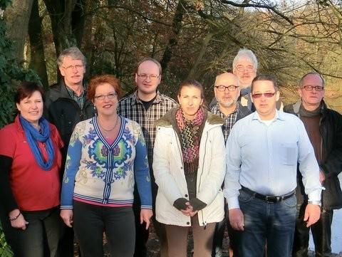 v.R.: Birgit Jelken, Sabine Schlösser, Grit Belitz, Michael Busse/ h.R.: Dietrich Kniep, Erik Bothe, Frank Bergmann, Andreas Miehe, Volker Riegelmann