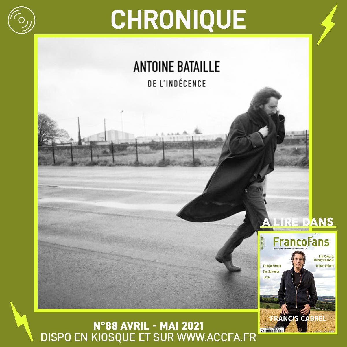 [Chronique] Antoine Bataille - De l'indécence