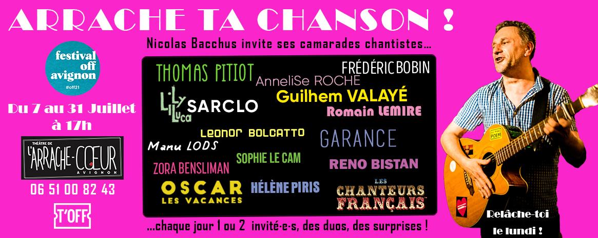 [live] Nicolas Bacchus invite ses ami.e.s à Avignon