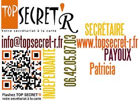 Carte de visite Top Secret'R - Secrétaire dans le Var - Draguignan