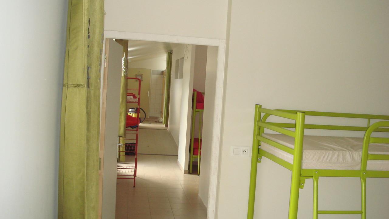 Les chambres de la maison bois, toutes de plein pied