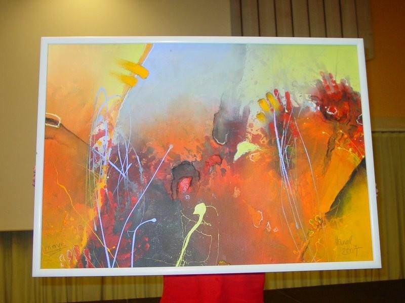 """""""MOVE"""" gemalt und gespendet vom Künstler Alfred Hansl"""