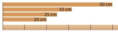 Scheitlängen von kammergetrocknetes Holz