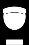 Hausmeisterservice Icon in Form eines Hausmeisters