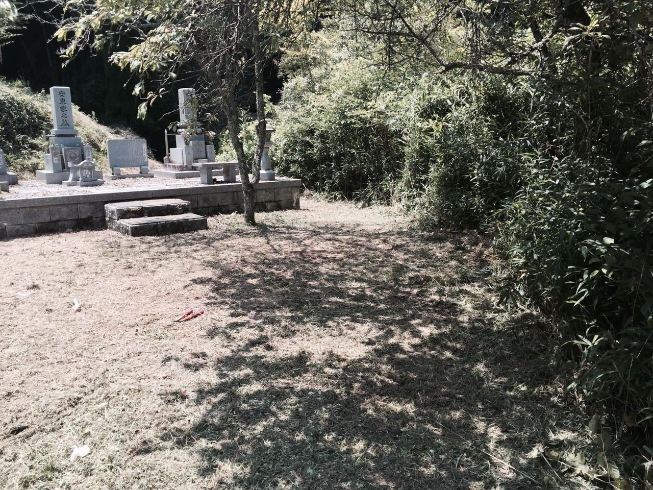 お墓までの通路も草刈り掃除いたします