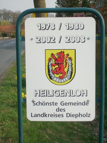 Schild am Ortseingang