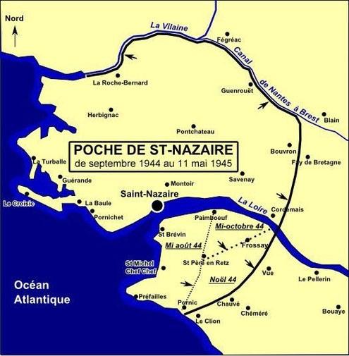 Carte de la poche de st nazaire Carte réalisée à partir du site de Michel Alexandre Gautier