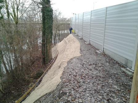Erosionssicherung mit Juttenmatte