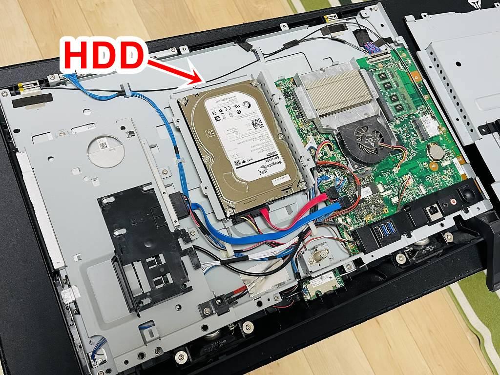 土岐市のお客様より富士通 一体型パソコン ESPRIMO FH56/RD (FMVF56RDG) SSD換装+メモリ増設を行わせて頂きました