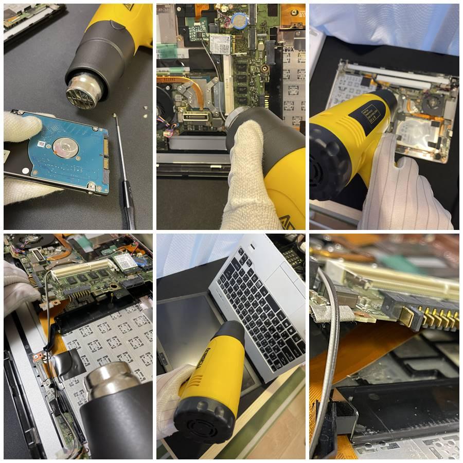 水没した富士通ノートパソコンの修理ご依頼。分解し、内部乾燥を行ったら起動!奇跡です。