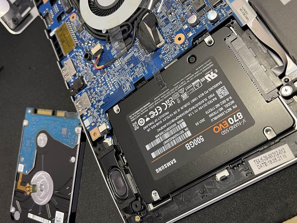 土岐市のお客様よりiiyama IStNxs-14FH054 の動作が遅いとのことSSD換装のご依頼を頂きました。
