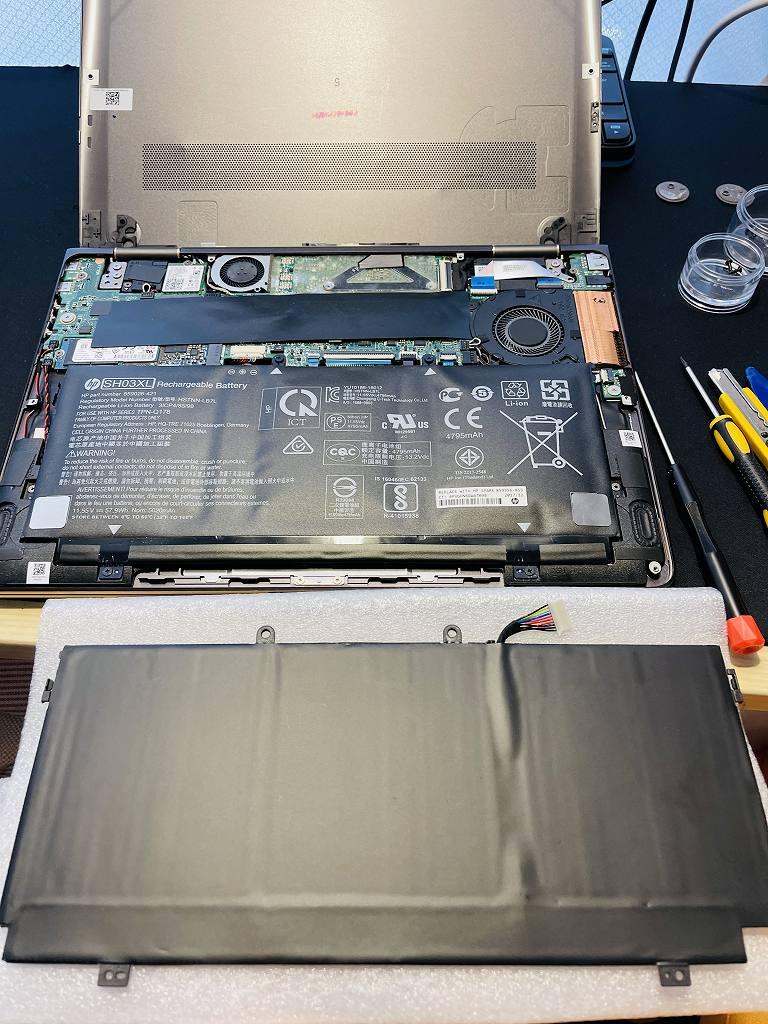 【宅配修理】神奈川県鎌倉市のお客様よりHP Spectre x360 Convertible 13-ac0XX のバッテリー交換ご依頼を頂きました。