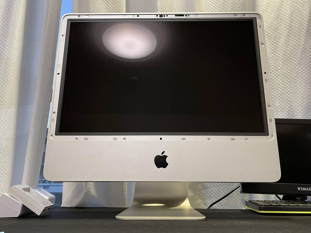 iMac A1224の電源が入らないとのことで電源ユニットを交換しましたが直りませんでした。