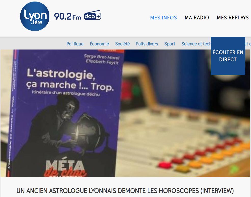 Serge Bret-Morel sur Lyon 1ère
