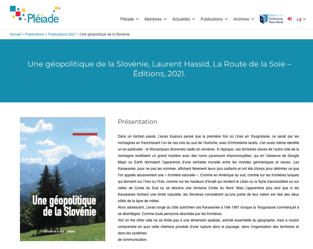 Laurent Hassid sur le site Pléiade