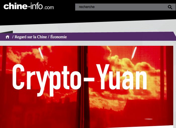 Crypto-Yuan de Pascal Ordonneau dans la presse