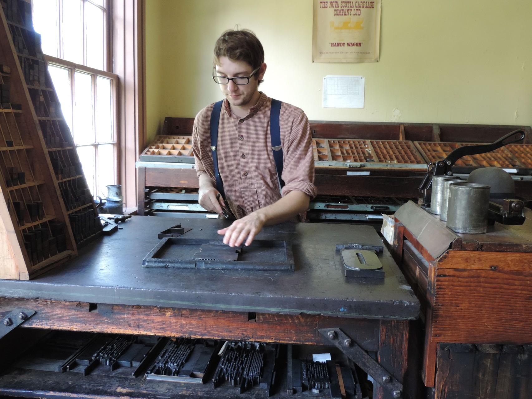 Schriftsetzer im Sherbrooke Village