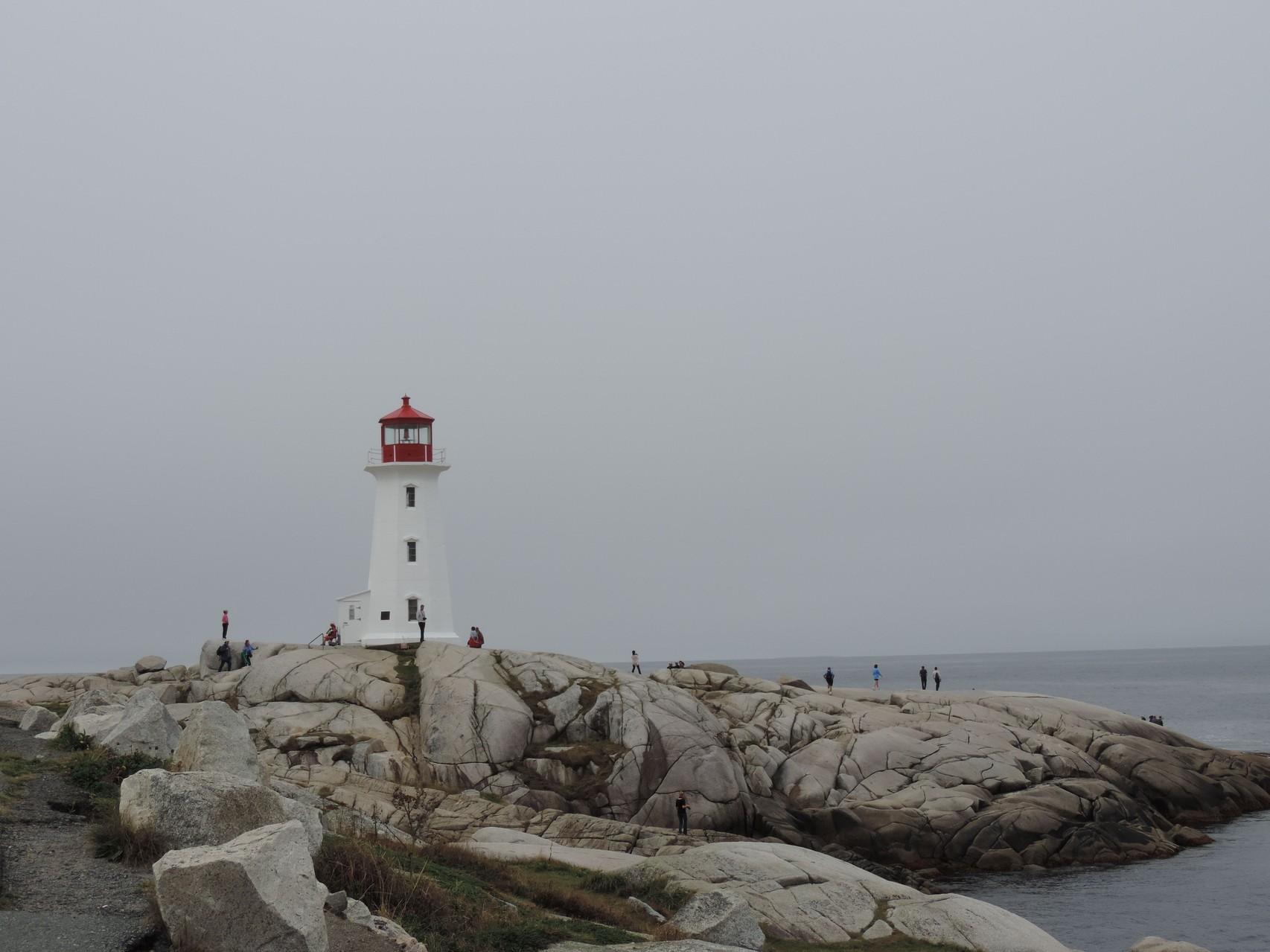der viel besuchte Leuchtturm von Peggys Cove
