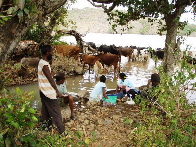 Waschtag am Lake Tana